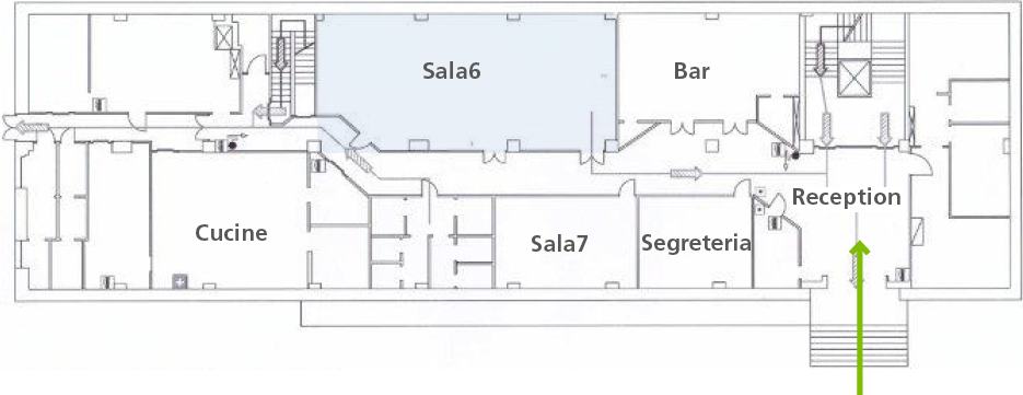Villa Borromeo _ Mappa piano terra